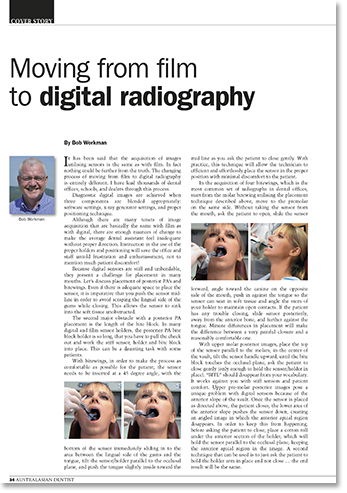 Moving from film to digital radiography